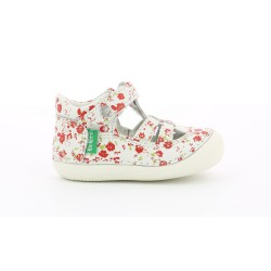KICKERS SUSHY BLANCO Y ROJO
