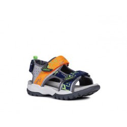 GEOX BOREALIS GREY FLUO ORANGE